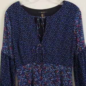 Forever 21 Blue Print Dress - M Juniors